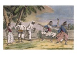A Troupe of Bayaderes, or Indian Dancing Girls, with Male Musicians Giclee Print by Pierre Sonnerat