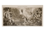 The Landing of Julius Caesar Giclee Print by  English