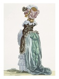 Back View of a Promenade Gown, Engraved by Dupin, Plate No.224 Giclee Print by Francois Louis Joseph Watteau