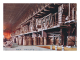 Manchurian Factory Occupied by the Japanese, C.1935-41 (Colour Litho) Giclee Print