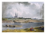 St. Denis, from 'Views on the Seine', Engraved by Thomas Sutherland (B.1785) Giclee Print by John Gendall