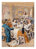 Celebration of an Engagement in Alsace, 1901 (Colour Litho) Reproduction procédé giclée par Frederic Theodore Lix