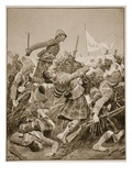 The Seaforth Highlanders Storming the Zareba at the Battle of Atbara Giclee Print by Richard Caton Woodville