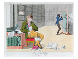 Anti English Cartoon, C.1803 (Colour Litho) Giclee Print by  French