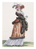 Lady Enjoying the Air on the Champs Elysees, Engraved by Papin Giclee Print by Francois Louis Joseph Watteau