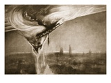 The Zeppelin's Fall, 1915 (Litho) Giclee Print by Albert Matignon