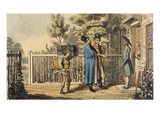 Illustration from 'Life of an Actor', by Pierce Egan, Published 1825 (Colour Engraving) Giclee Print by Theodore Lane