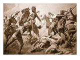 Risaldar Santa Singh, Dafadar Bisham Singh and Sowar Buda Singh Giclee Print by George Derville Rowlandson