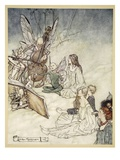 And a Fairy Song, Illustration from 'Midsummer Nights Dream' by William Shakespeare, 1908 Giclee Print by Arthur Rackham