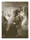 St. Augustine before Ethelbert, Engraved by A. Smith Giclee Print by Henry Tresham