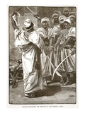 Bagaeus Delivering His Messages to the Persian Guard (Litho) Giclee Print by  English