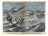 Russian Naval Disaster During the Battle of Tsushima in 1905, Illustration from 'Le Petit Parisien' Giclee Print by  French