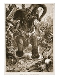 Defeat of the Porus by the Macedonians (Litho) Giclee Print by  English