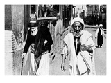 Side by Side: a Jew and a Muslim (B/W Photo) Giclee Print by  French Photographer