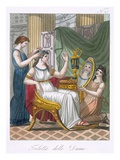 A Lady's Toilet, Illustration from 'L'Antique Rome', Engraved by Labrousse, Published 1796 Giclee Print by Jacques Grasset de Saint-Sauveur