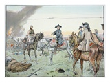 Frederick and Seydlitz at the Battle of Zorndorf on the 25th August 1758 (Colour Litho) Giclee Print by Richard Knoetel