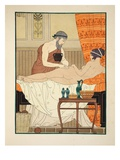 Application of White Egyptian Perfume to the Hip, Illustration from 'The Works of Hippocrates' 1934 Giclee Print by Joseph Kuhn-Regnier