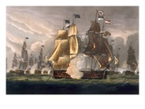 The Battle of Cape St. Vincent, February 14th 1797, Engraved by J. Baily Giclee Print by Thomas Whitcombe