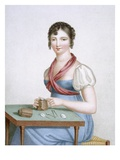 The Printmaker, Engraved by Augrand, C.1816 (Coloured Engraving) Giclee Print by Madame G. Busset-Dubruste