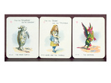 Three 'Happy Family' Cards Depicting Characters from 'Alice in Wonderland' by Lewis Carroll Giclee Print by John Tenniel