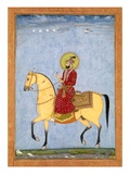 The Mughal Emperor Farrukhsiyar(1683-1719) (R.1713-19), from the Large Clive Album Giclee Print by  Mughal