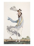 A Ladies Summer Promenade Dress, 1800 (Coloured Engraving) Giclee Print by Philibert Louis Debucourt