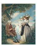 The Moralist, 1787 (Hand Coloured Stipple Engraving) Giclee-tryk i høj kvalitet af John Raphael Smith