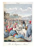 The Muslim Festival of Eid-El-Kabir in Morocco, 1811 (Coloured Engraving) Giclee Print by  French