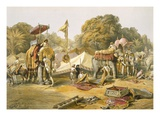 Pheel Khana, or Elephants Quarters, Holcars Camp, from 'India Ancient and Modern', 1867 Reproduction procédé giclée par William 'Crimea' Simpson