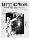 Front Cover of 'La Voix Des Femmes', Published in Paris, October 1917 (Printed Paper and Woodcut) Giclee Print by  French