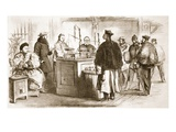 Weighing the Compensation Money Exacted from the Chinese for the Released British Prisoners Giclee Print by  English
