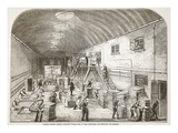 Price's Patent Candle Company's Works, No.1: the Spreading and Stripping Department Giclee Print by  English