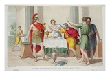 Theseus Recognised, Book Vii, Illustration from Ovid's Metamorphoses, Florence, 1832 Giclee Print by Luigi Ademollo