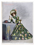 Mlle Mily-Meyer in the Role of Mlle Le Normand, 1899 (Typogravure) Giclee Print by  French