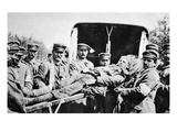 Our Wounded in the Enemy's Hands: a British Soldier with His German Ambulance-Attendants Giclee Print by  German photographer