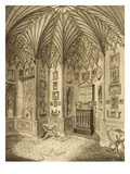 The Cabinet, Engraved by T. Morris, from 'Description of Strawberry Hill' by Horace Walton, 1784 Giclee Print by  English