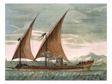Galley under Sail, Flying Standard of the Commander of the Squadron, from 'Le Naptune Francois' Giclee Print by Pierre Mortier
