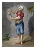 A Street Coffee Vendor, Plate 56 Giclee Print by Jean Baptiste Vanmour