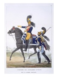 Uniform of the Elite Gendarme of the Royal Guard, 1823 (Colour Litho) Giclee Print by Charles Aubry