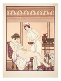 Sponge Bath, Illustration from 'The Works of Hippocrates', 1934 (Colour Litho) Giclee Print by Joseph Kuhn-Regnier