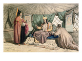 A Kalmuk High Priest with His Ghepi, Illustration from &#39;Voyage a La Mer Caspienne&#39; Reproduction proc&#233;d&#233; gicl&#233;e par Francois Fortune Antoine Ferogio
