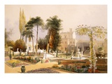 The Parterre in the Gardens at Wilton, the Seat of the Earl of Pembroke (Chromolitho) Giclee Print by E. Adveno Brooke