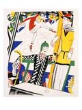 Sledging, C.1920 (Stencil on Paper) Premium Giclee-trykk av Charles Martin