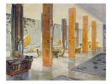 Garden Hall of a Hotel, 1929 (Colour Litho) Giclee Print by M. Stier