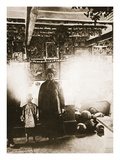 Interior of an Ukrainian Khata (Sepia Photo) Giclée-tryk af Russian Photographer