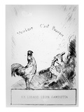 Where There's a Will, There's a Way', Book-Plate of Leon Gambetta (Litho) Giclee Print by  French