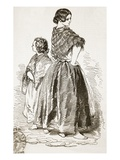 Woman and Girl of the Saltmarket, Glasgow, from 'The Illustrated London News', 1849 (Engraving) Giclee Print by Paul Gavarni