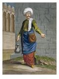 An Ambulant Barber, Plate 58 Giclée-Druck von Jean Baptiste Vanmour