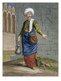 An Ambulant Barber, Plate 58 Giclee Print by Jean Baptiste Vanmour