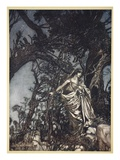 Never So Weary Never So in Woe, Illustration from 'Midsummer Nights Dream' by William Shakespeare Premium Giclee Print by Arthur Rackham